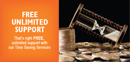 Free unlimited support - That's right FREE, unlimited support with our Time Saving Services